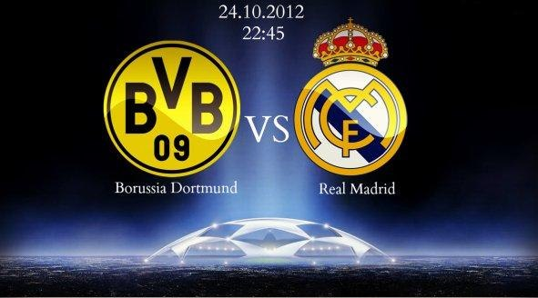 Лига чемпионов, «Боруссия» — «Реал Мадрид». 24.10.2012. Прямая трансляция из Дортмунда