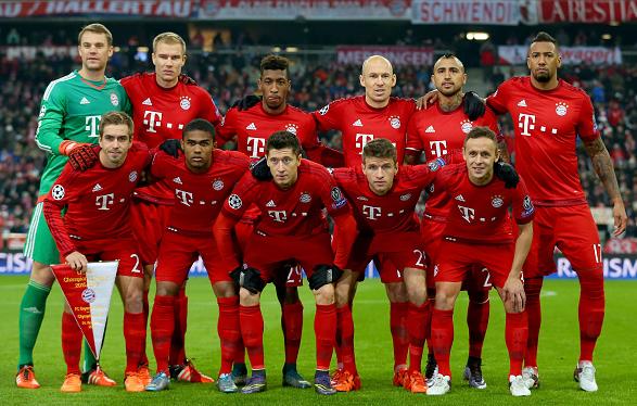 Футбол состав команды бавария мюнхен
