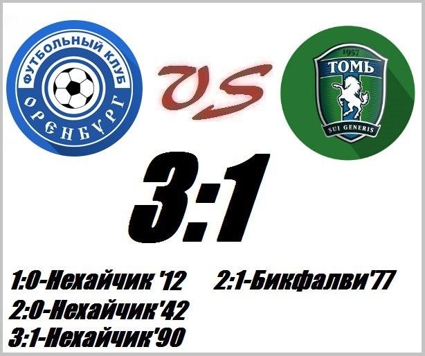 «Оренбург» добыл первую победу в сезоне, переиграв «Томь»