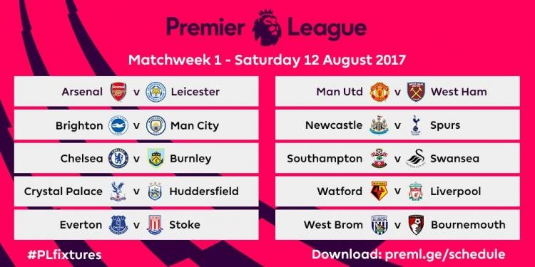 Футбол английская премьер лига расписаение матчей