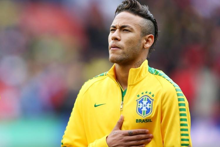 Бразильская команда неймар